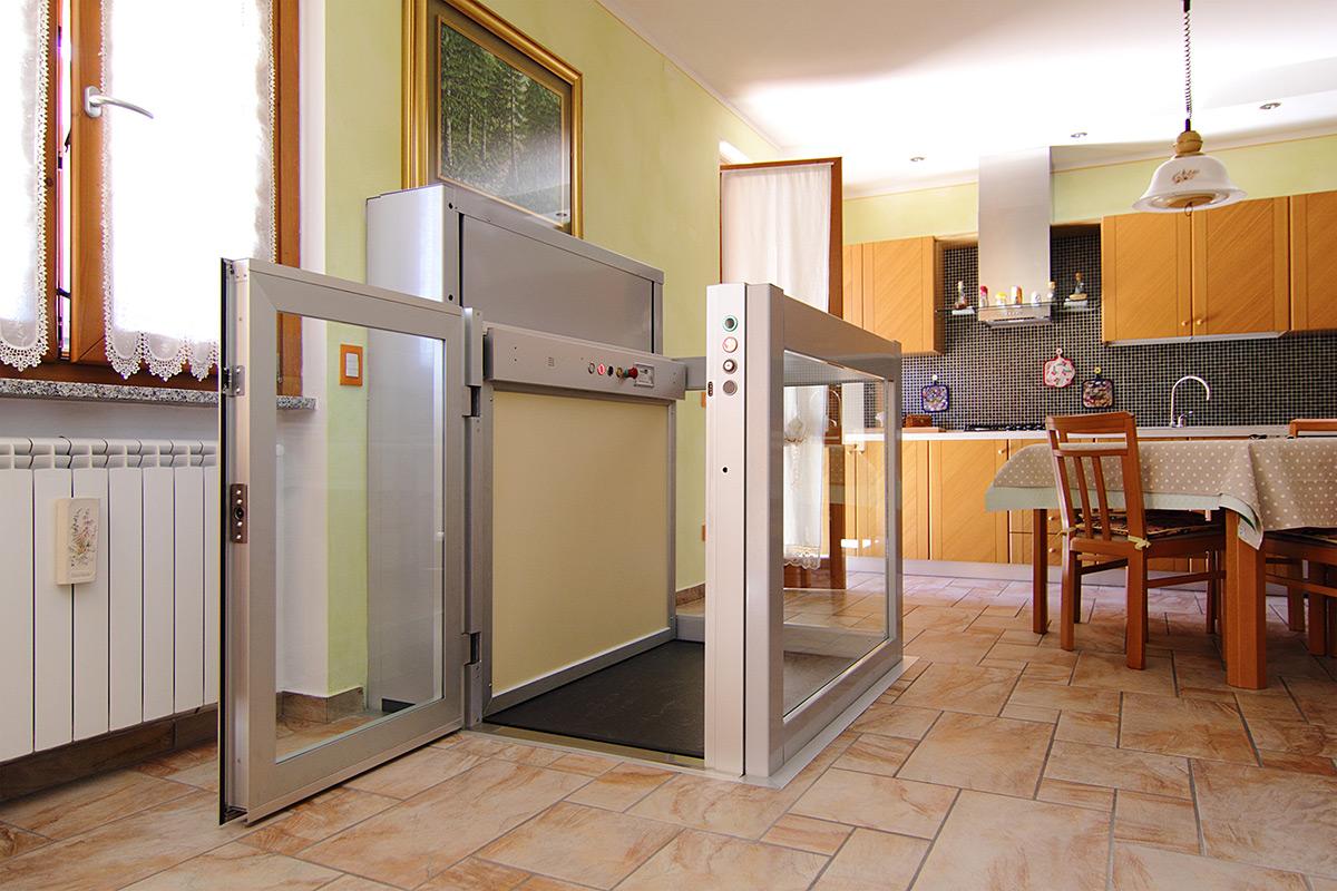 Piattaforme elevatrici mini ascensori ascensori - Ascensore in casa ...